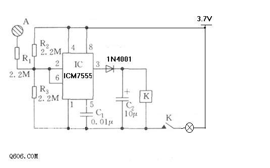 触控开关 控制直流电源 电压4.2v