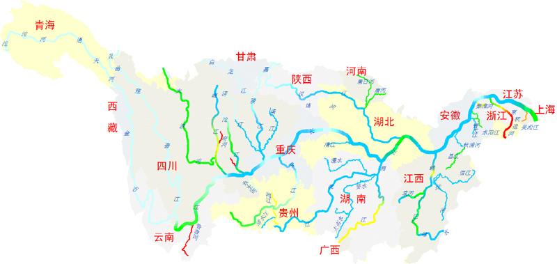 黄河水系图简单手绘