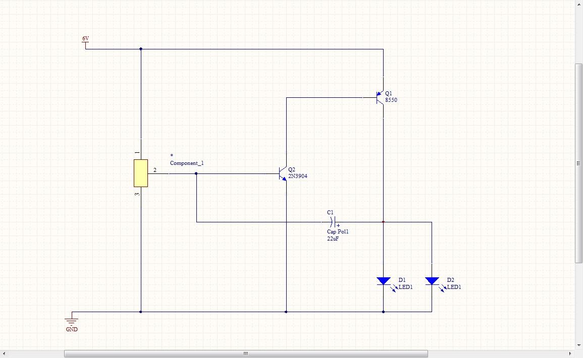 这是led闪灯电路图,请问原理是什么,我看不明白