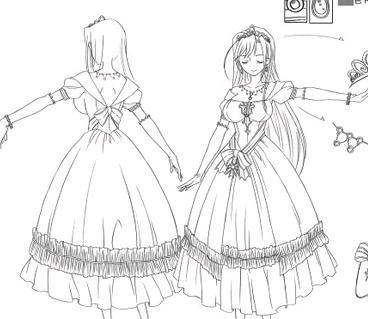 漫画女的怎么画尤其是女的裙子最好那个图,别来太难的图片