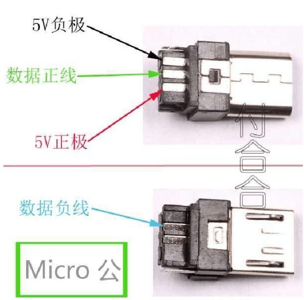 micro usb 5pin 公头引脚定义