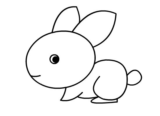 哪有小兔子的简笔画