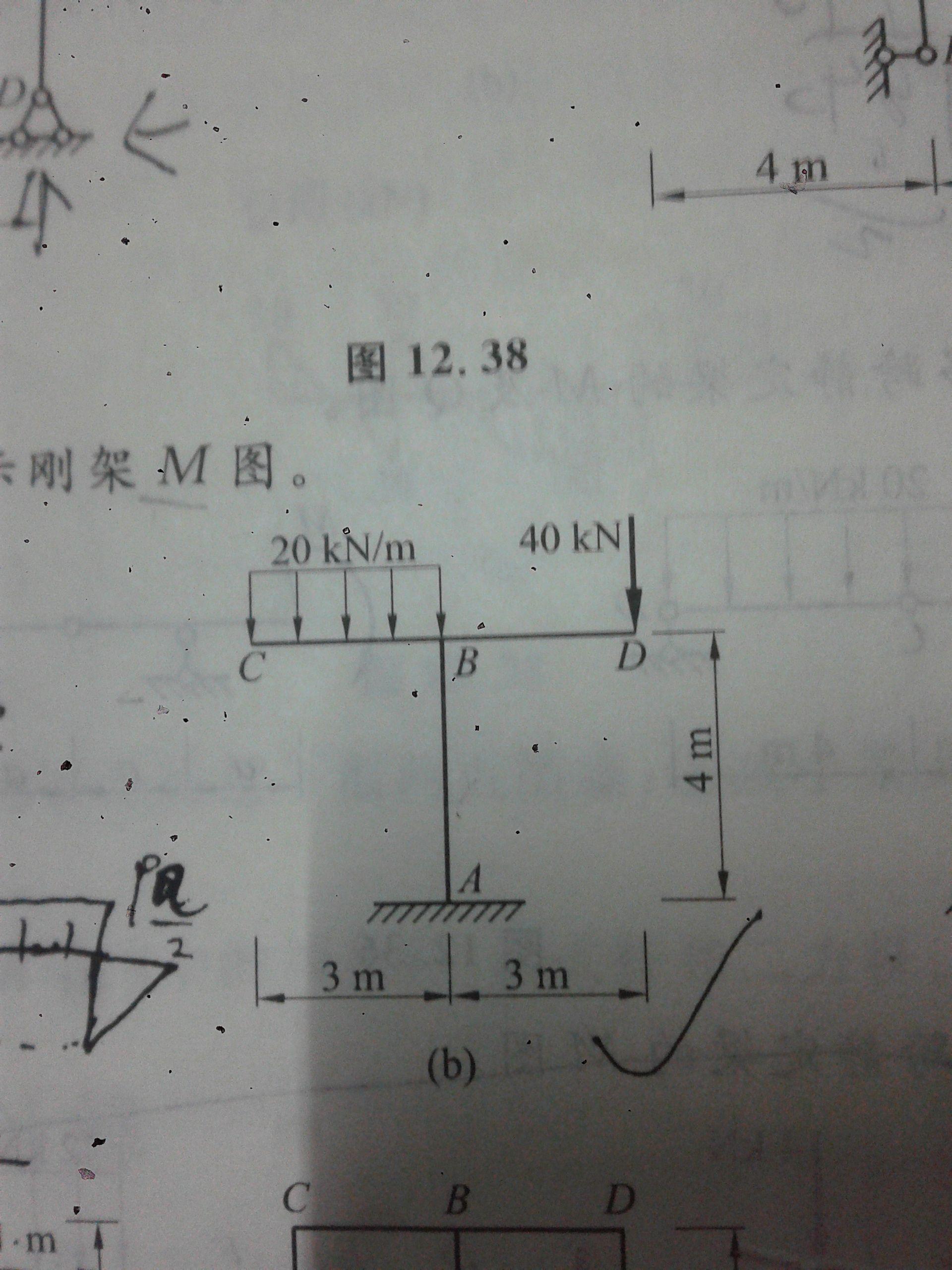 10 我有更好的答案 静定结构,可直接求解; 左悬臂梁:c点弯矩为0,b点