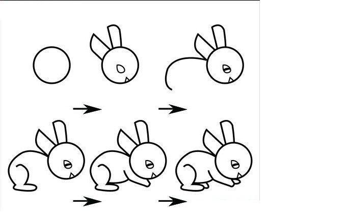 怎么画兔子 小白兔简笔画步骤图5/12