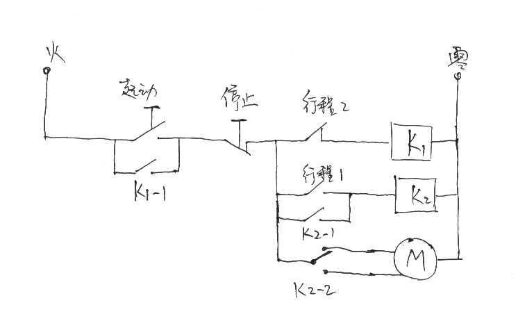其实不需用时间继电器,请参考下图,其中k2为中间继电器,控制的是单相