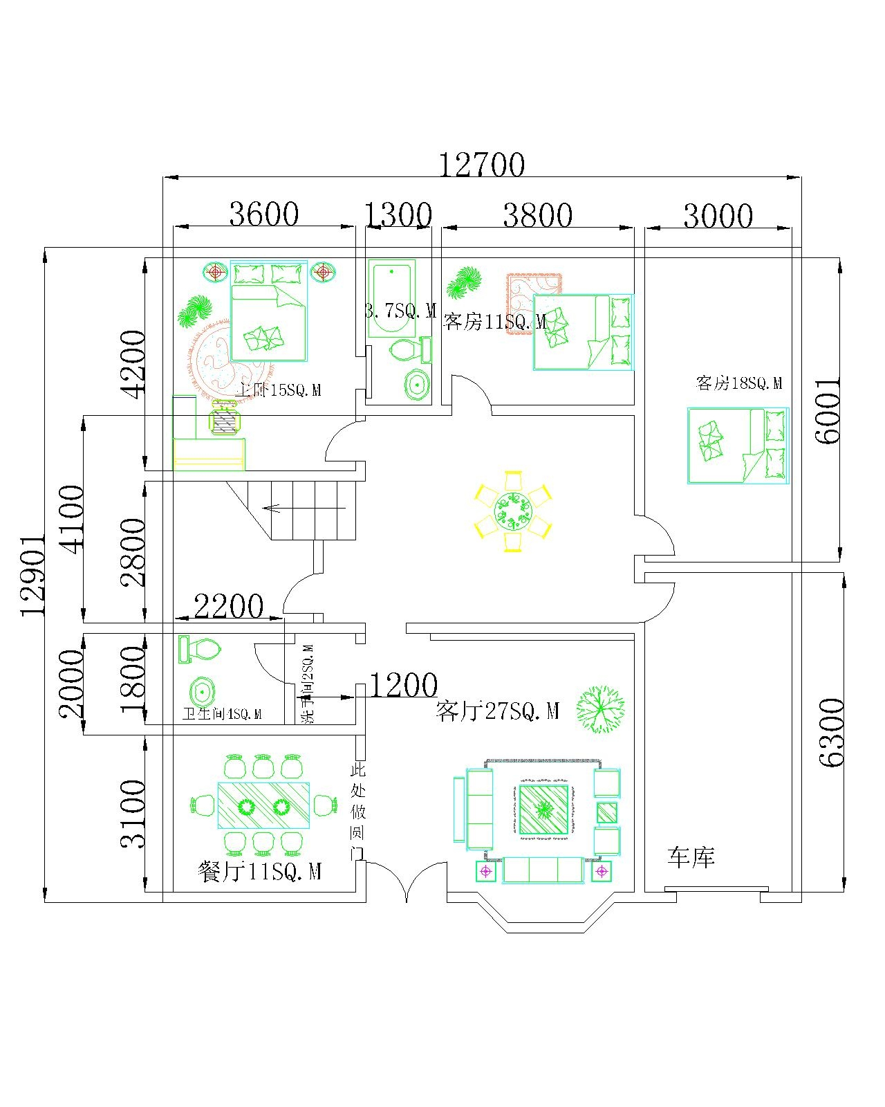 层楼房设计图(cad格式) 20 1,我们家在农村,现想建一栋二层楼房,宽14