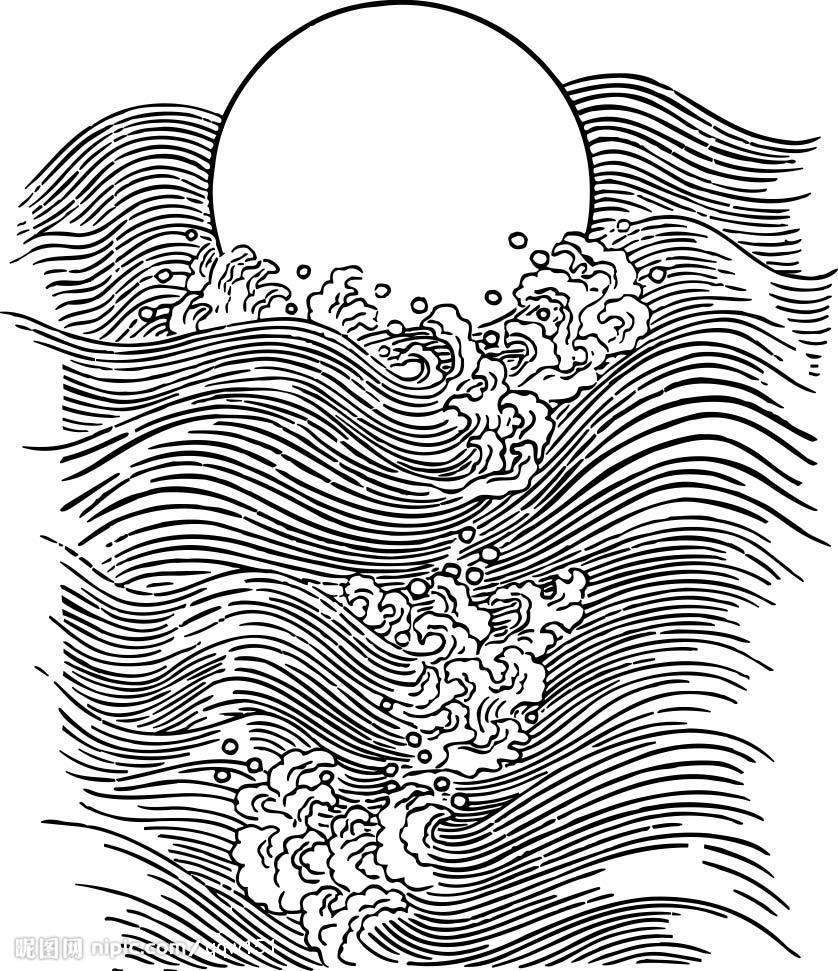 海浪怎么画