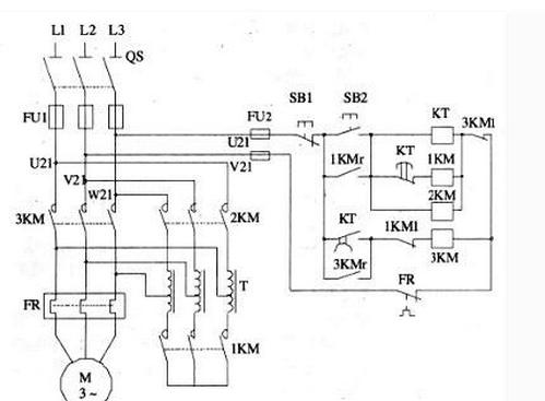 如何按照安装自耦变压器降压启动控制线路的电路图,画