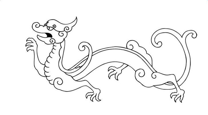 简单的龙怎么画?