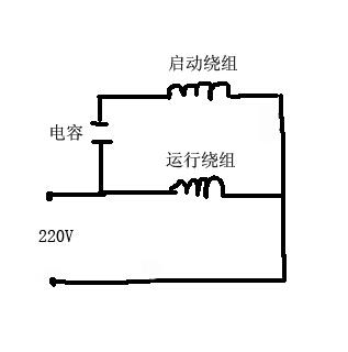 220v电动机的启动绕组和运行绕组的接线方法