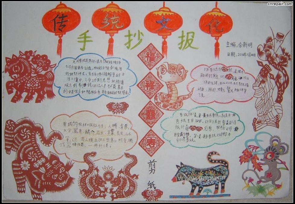 手抄报小小中国文化节怎么写图片