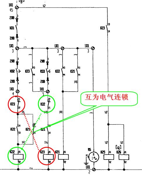 展开全部 电气互锁就是通过继电器,接触器的触点实现互锁,比如电动