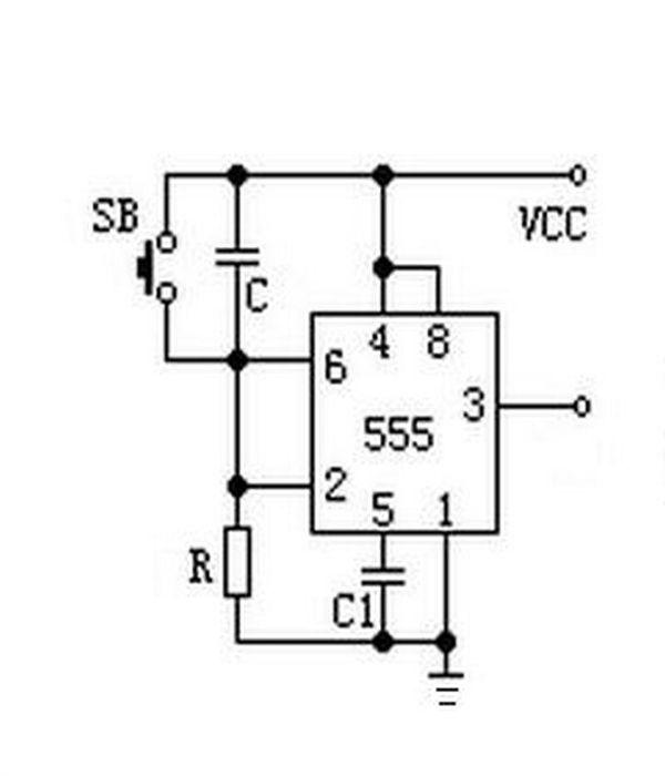 通电延时简单电路