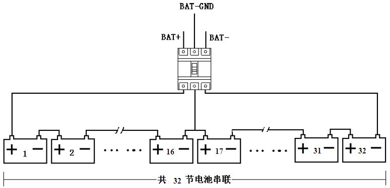 山特3c3ex20k的ups上面标称电压为正负192 v电池怎么接
