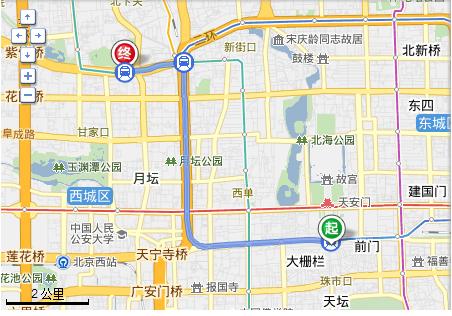 求助去北京动物园-中国科技馆做地铁的线路?我在前门.