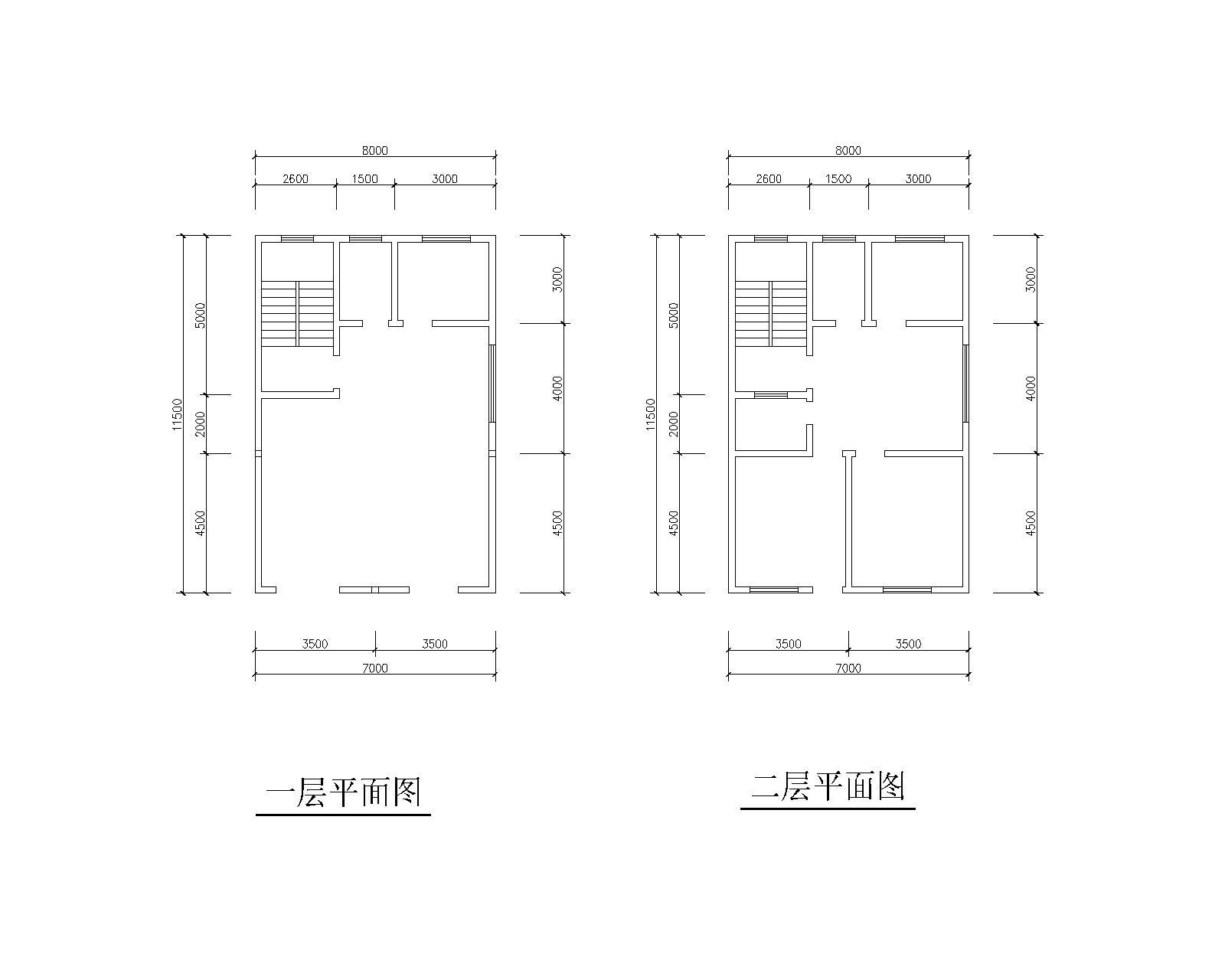设计农村住房图纸cad