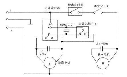 洗衣机定时器接线图