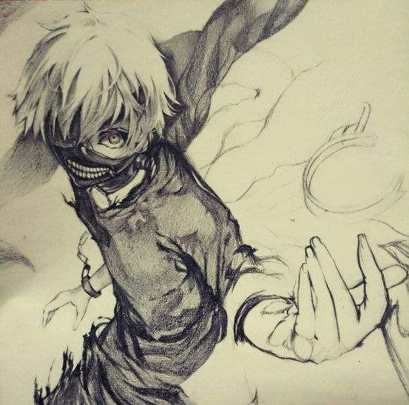 金木研手繪鉛筆畫