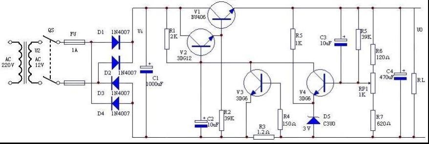 串联稳压电源的调整电路为什么需要两个三极管