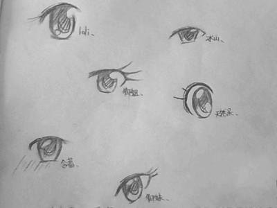 动漫手绘的眼睛如何画,铅笔的