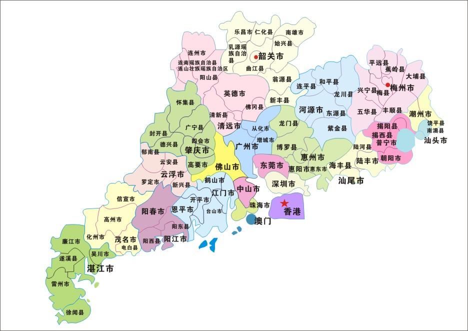 东莞市与深圳市,广州市,增城市和惠州市 搭界.图片