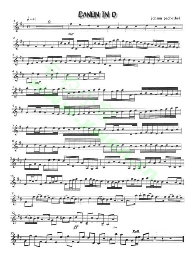 急求卡农小提琴独奏 钢琴伴奏