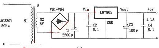 交流220v变为直流 5v的电路图 我有更好的答案 syzbb |单位网管向ta