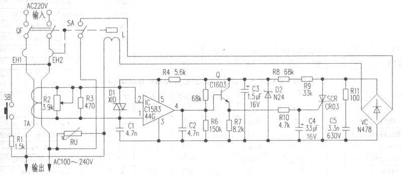 漏电保护开关的电路图