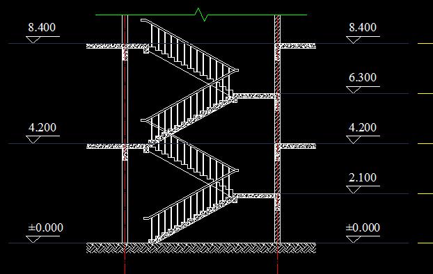 建筑图 室内楼梯画法?