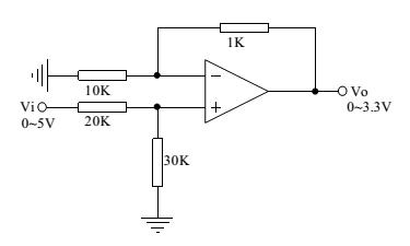 有哪些运算放大器可以用作:将0-5v电压 同比例缩放 0