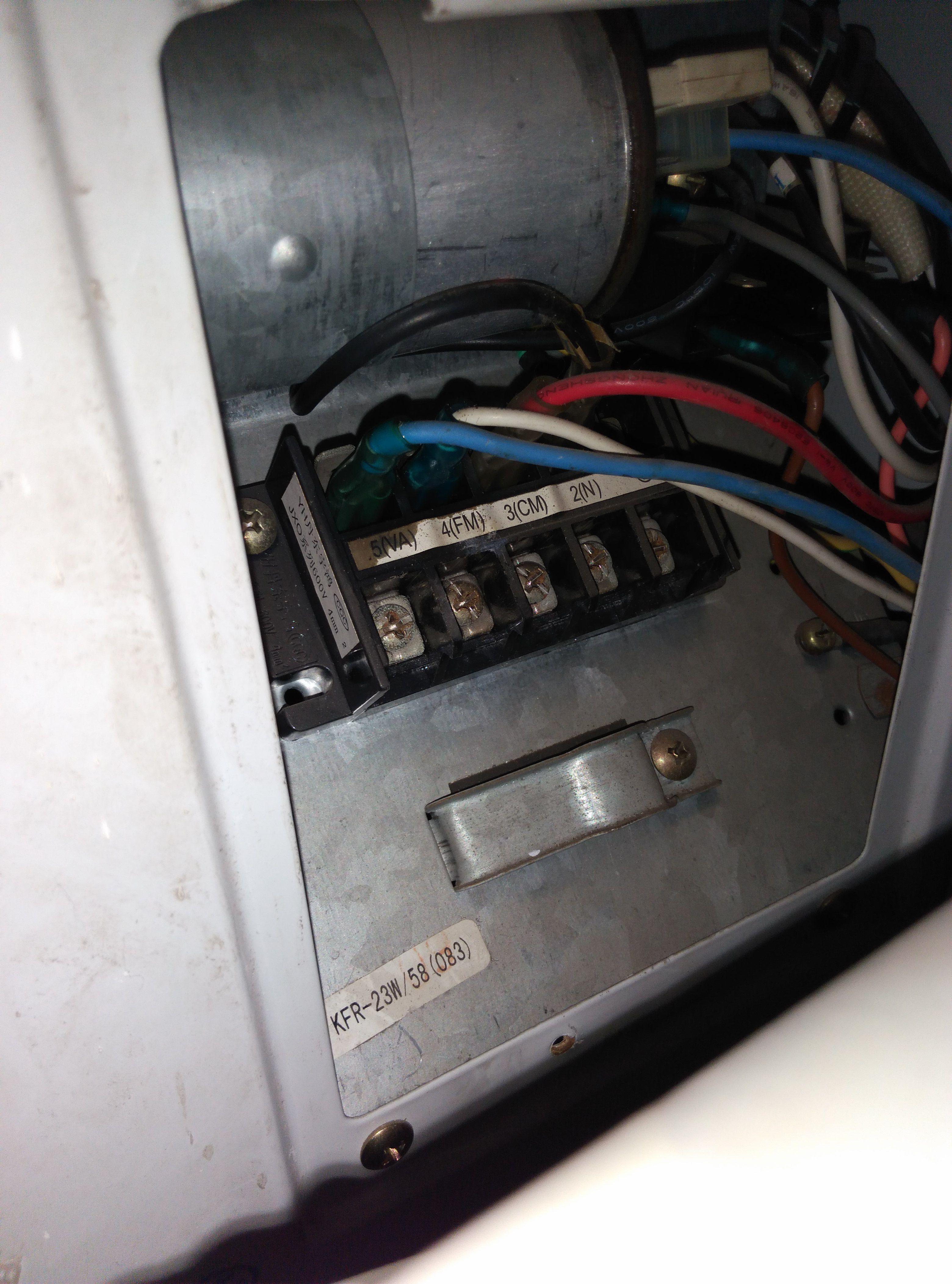 海信23w/58定频空调如何接线,颜色分配.