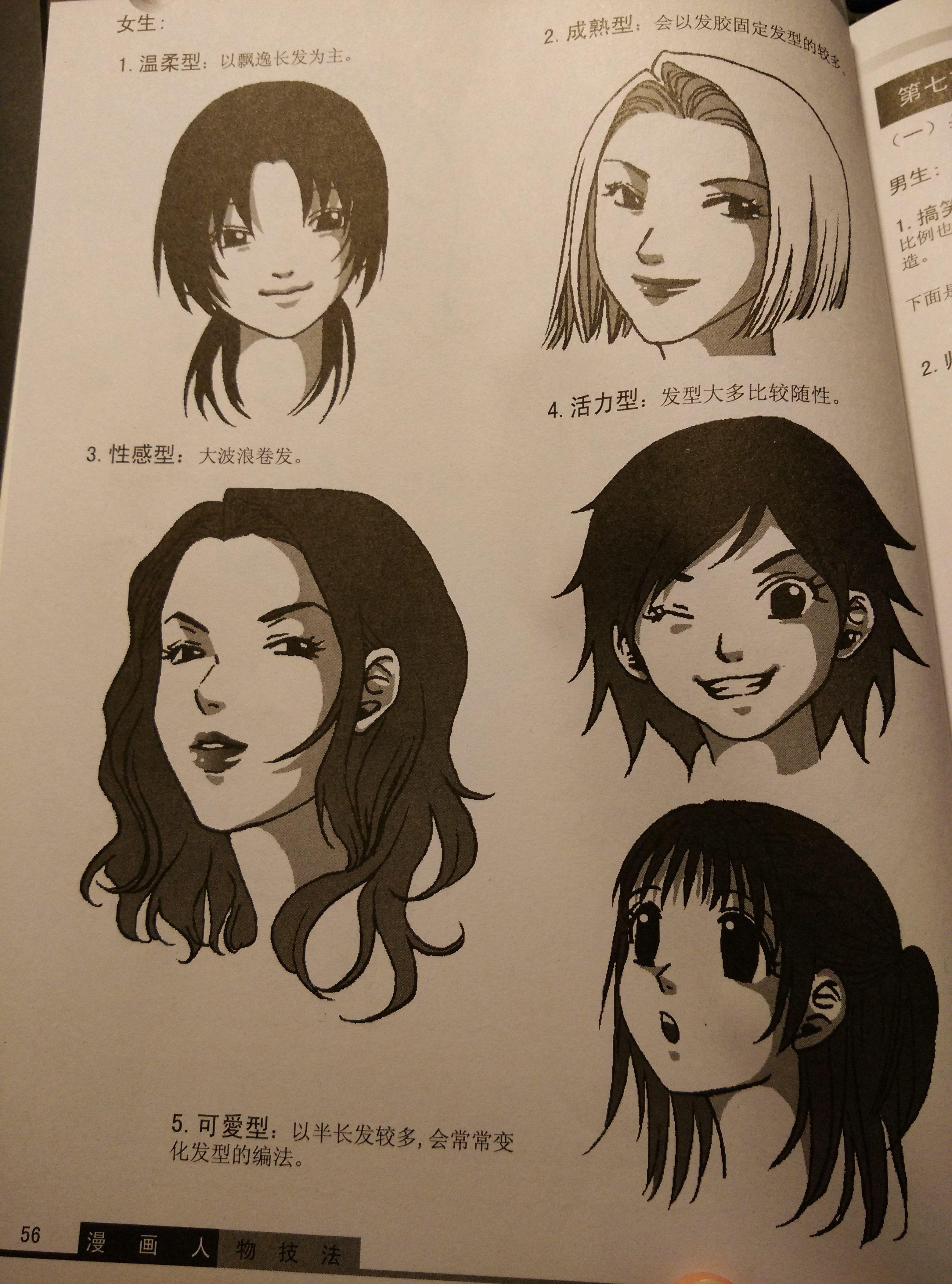 怎样画动漫人物的头发,最好分步骤,配图