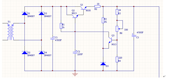 电源变压器的容量 2. 整流电路的型号 3. 稳压电路