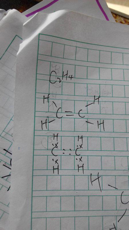 乙烯分子的电子式和结构式