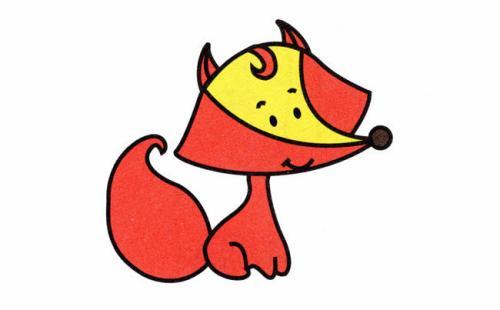 狐狸简笔画大全带颜色可爱一点的
