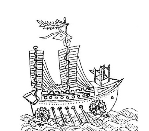 海贼船手绘