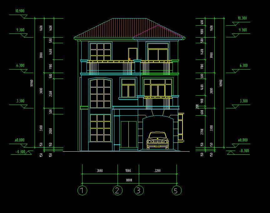 10x10米房子设计图