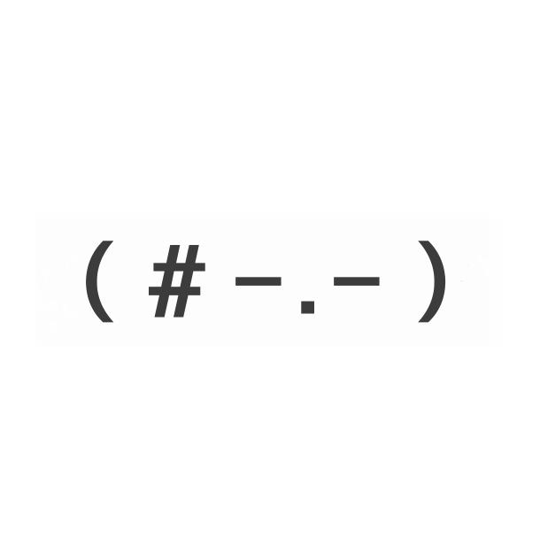 这个表情符p成一张qq头像用的图片,要黑白的图片