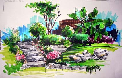 马克笔手绘风景画图,不要城市之类的,10张以上,帮我在