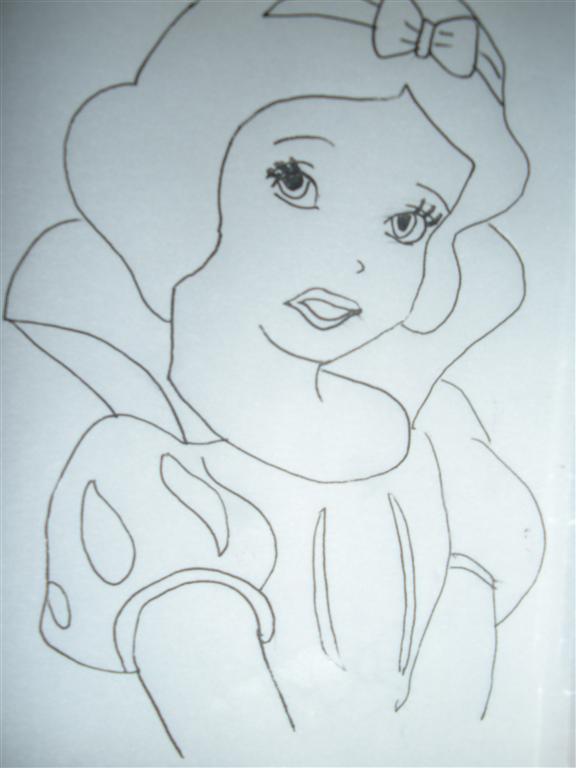 公主的头发怎么画图片
