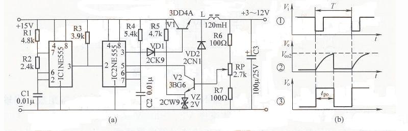 急求,开关电源论文中,输出为3-12v可调,整体电路图
