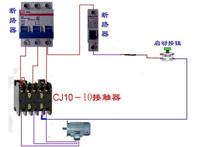 接触器正转点动控制电路接线图