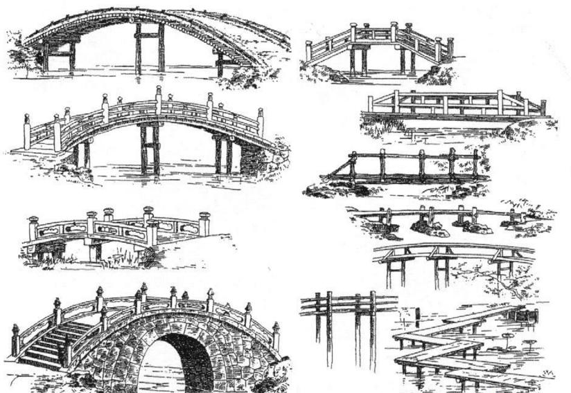 桥的简笔画 图片
