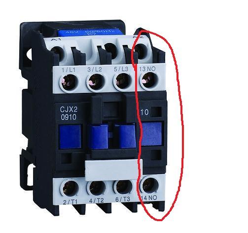 一图:接触器怎么么只有no辅助触头,nc辅助触头