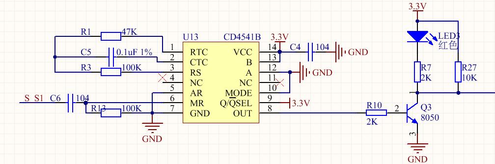 求通电延时电路,,上电即触发,,延时1秒后接通电路