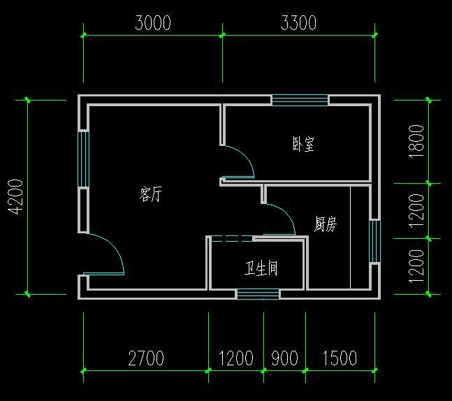 谁可以帮我设计一个30平方米的房屋设计图,需要两室一图片