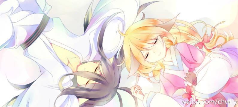求狐妖小红娘里的图片 最好月红 富贵清瞳两对cp在一张图片里!