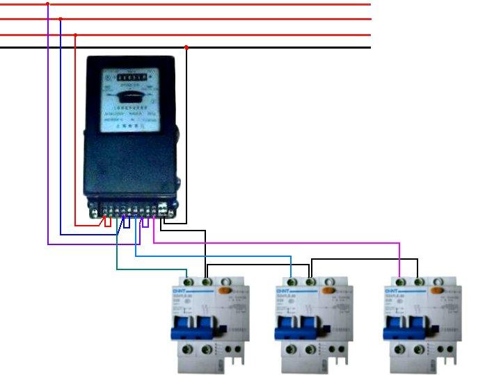 电表控制脱扣器接线图解