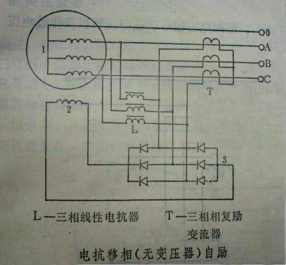 求10千瓦三相发电机 四硅电路图