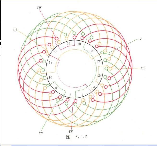 双速电机绕组接线图